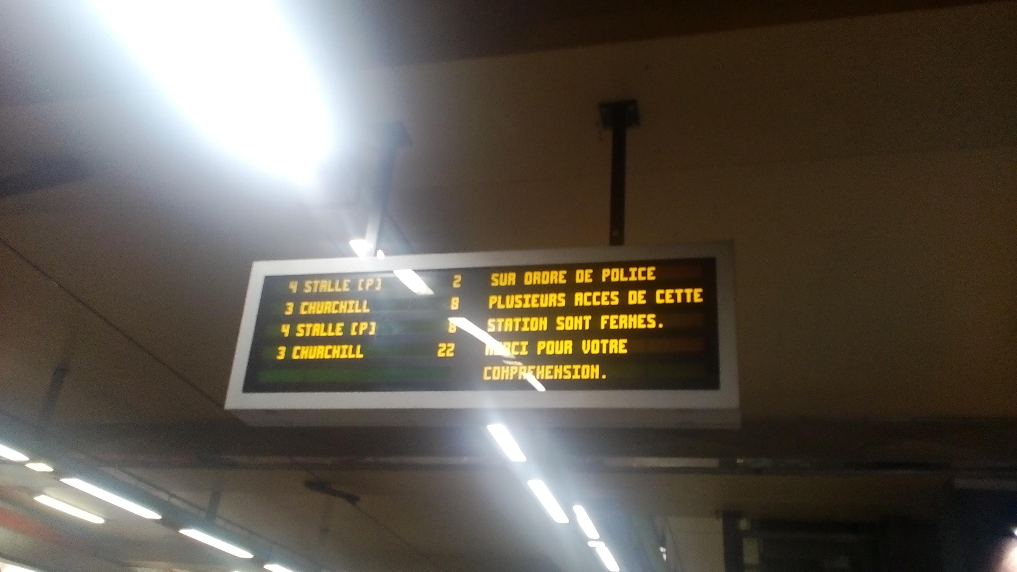 gare du midi alerte