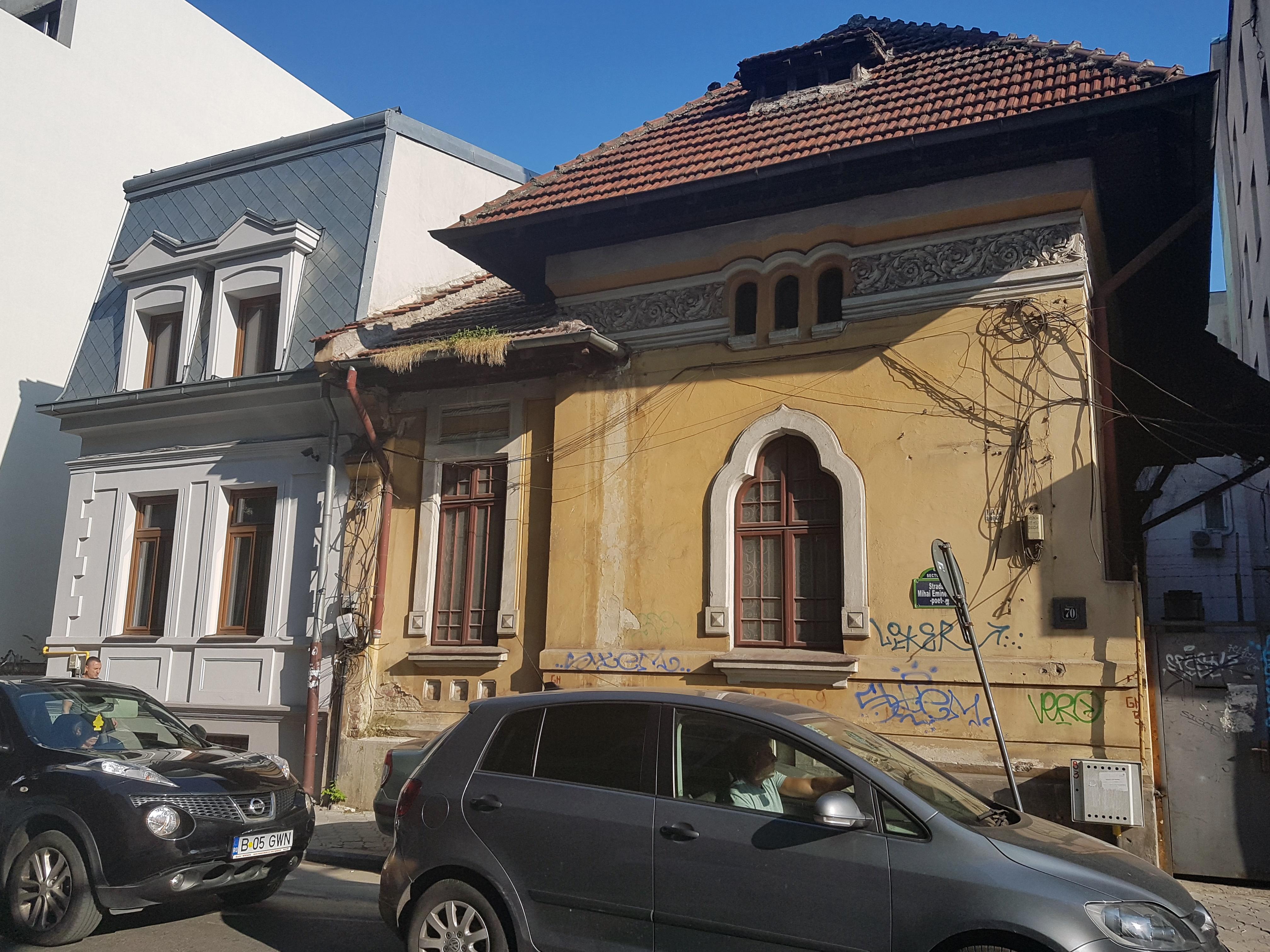 Un bloc cu patru etaje ar putea apărea în zona protejată Mihai Eminescu, vizavi de casa Henrieta Delavrancea, monument istoric. Cum a fost distrusă zona în ultimii 15 ani 14